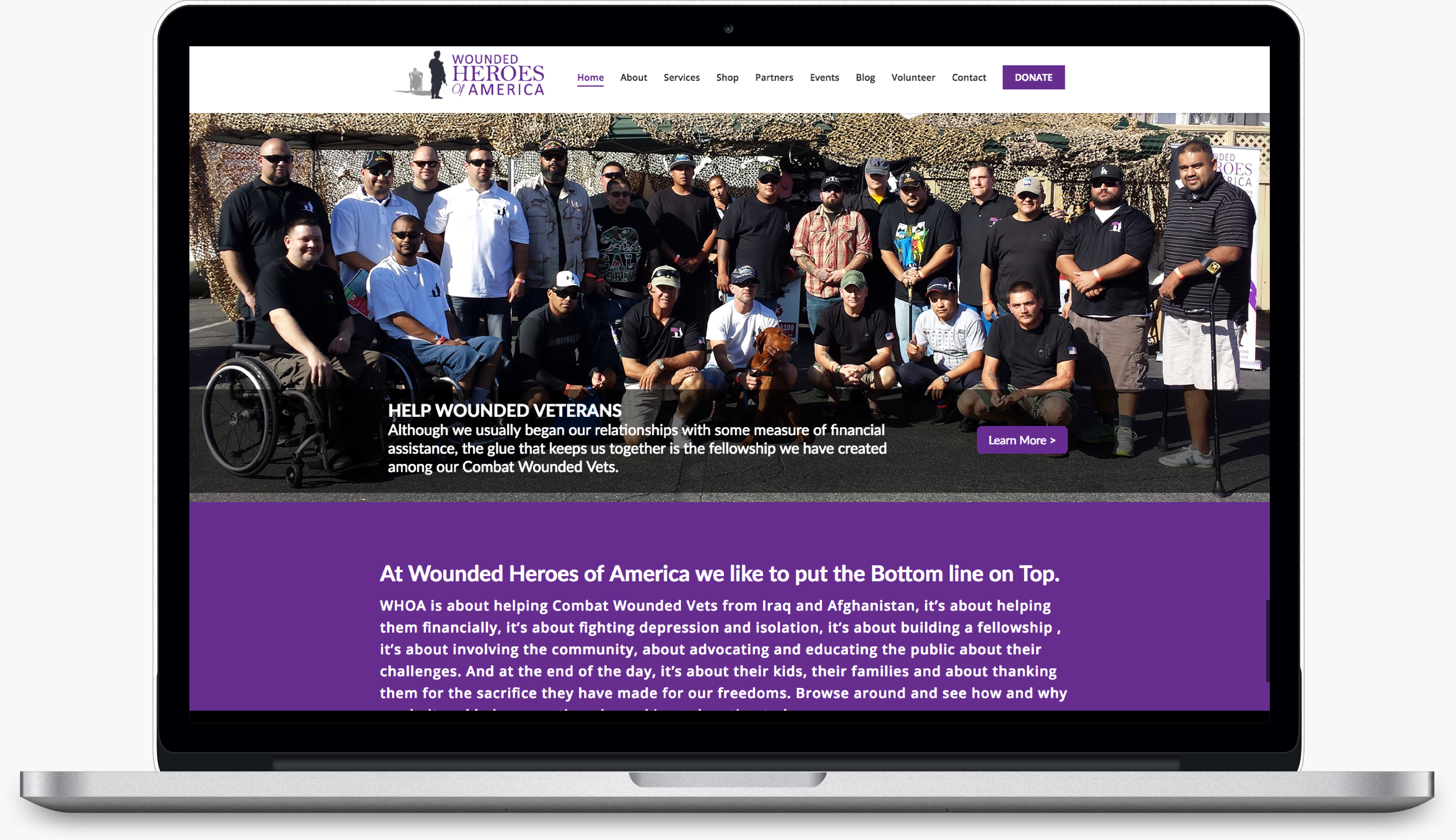 Wounded Heroes of America Website Redesign: An Inspiring Project For An Inspiring Cause