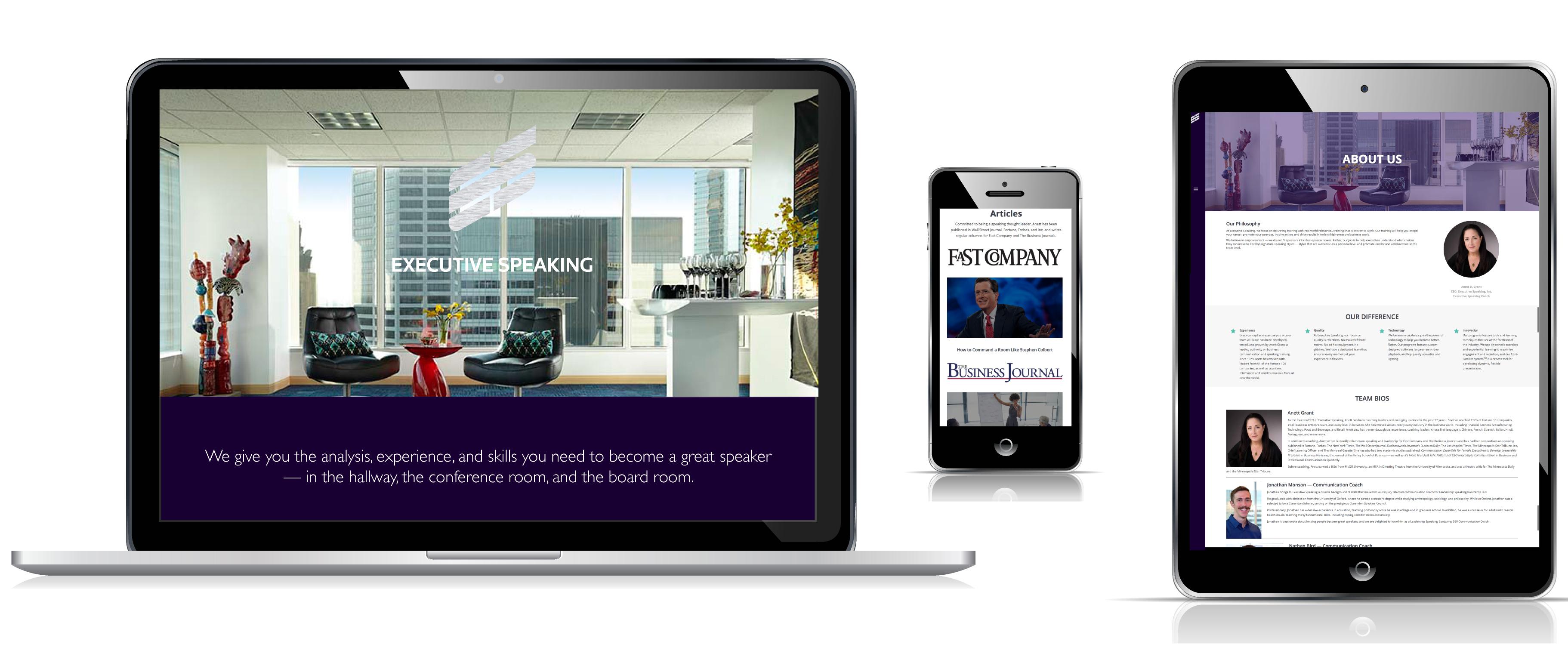 Executive Speaking Responsive Website Redesign