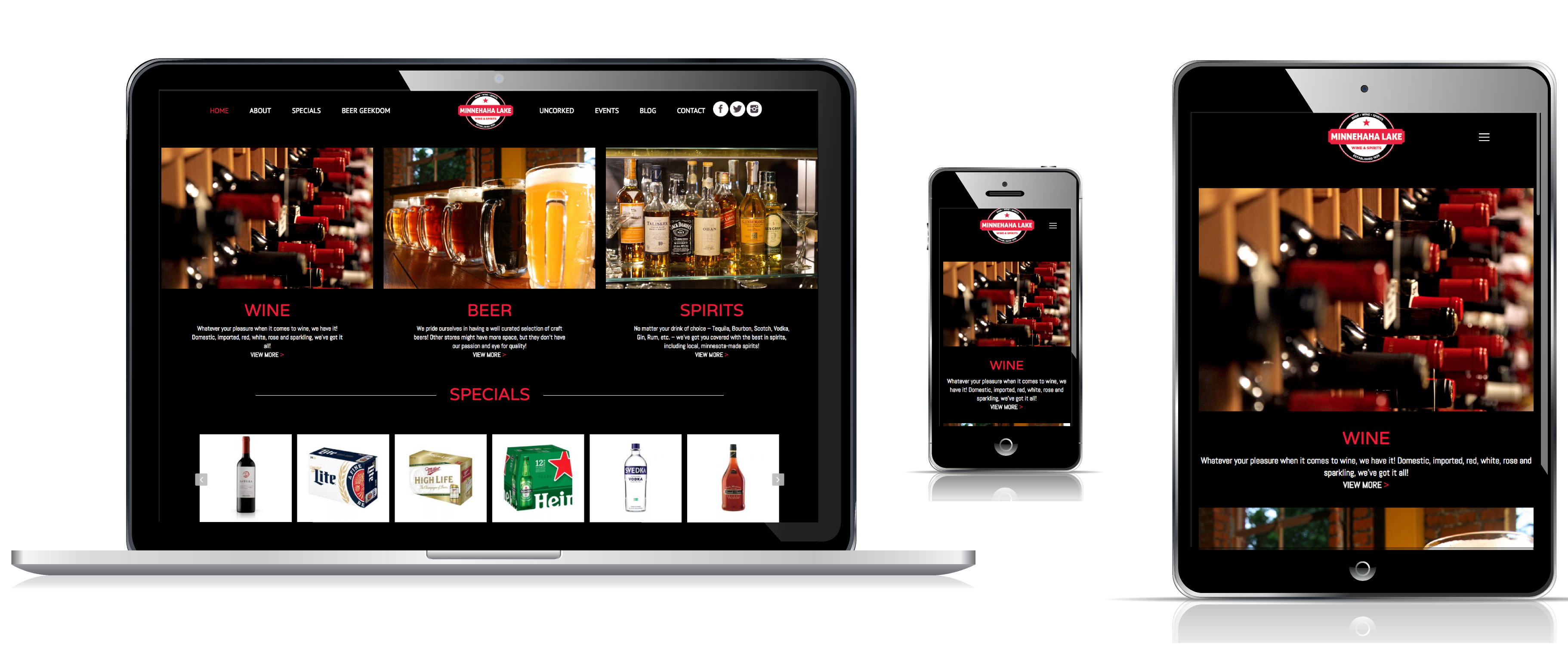 Minnehaha Liquors Custom Website Redesign