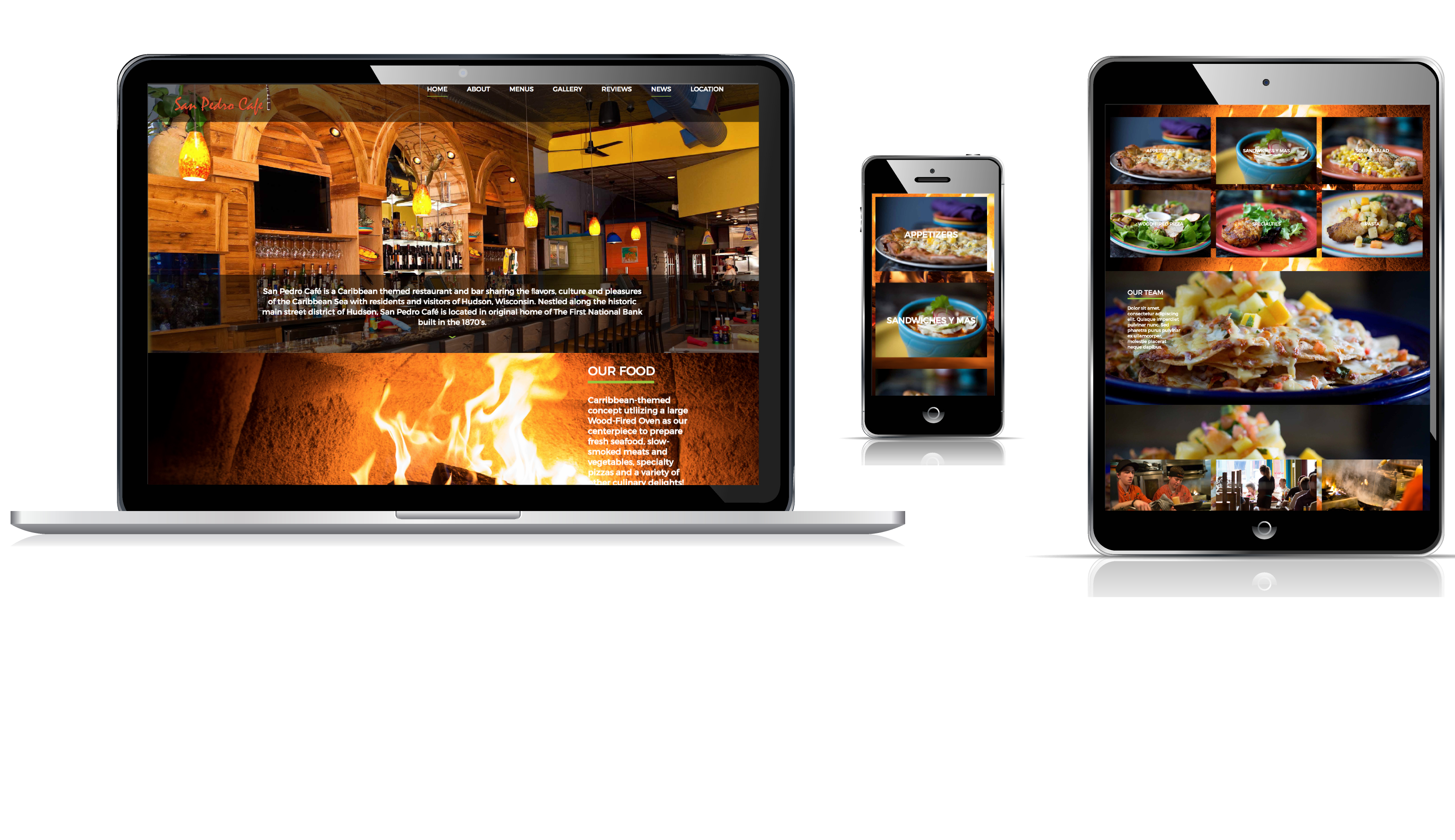 San Pedro Cafe WordPress Website Redesign