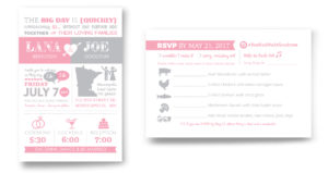 infographic wedding invitation design