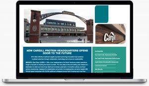 Cargill landing page design