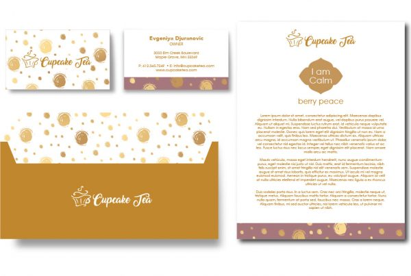 CupCake Tea Brand Identity Design