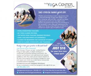 Yoga Center Ad Design