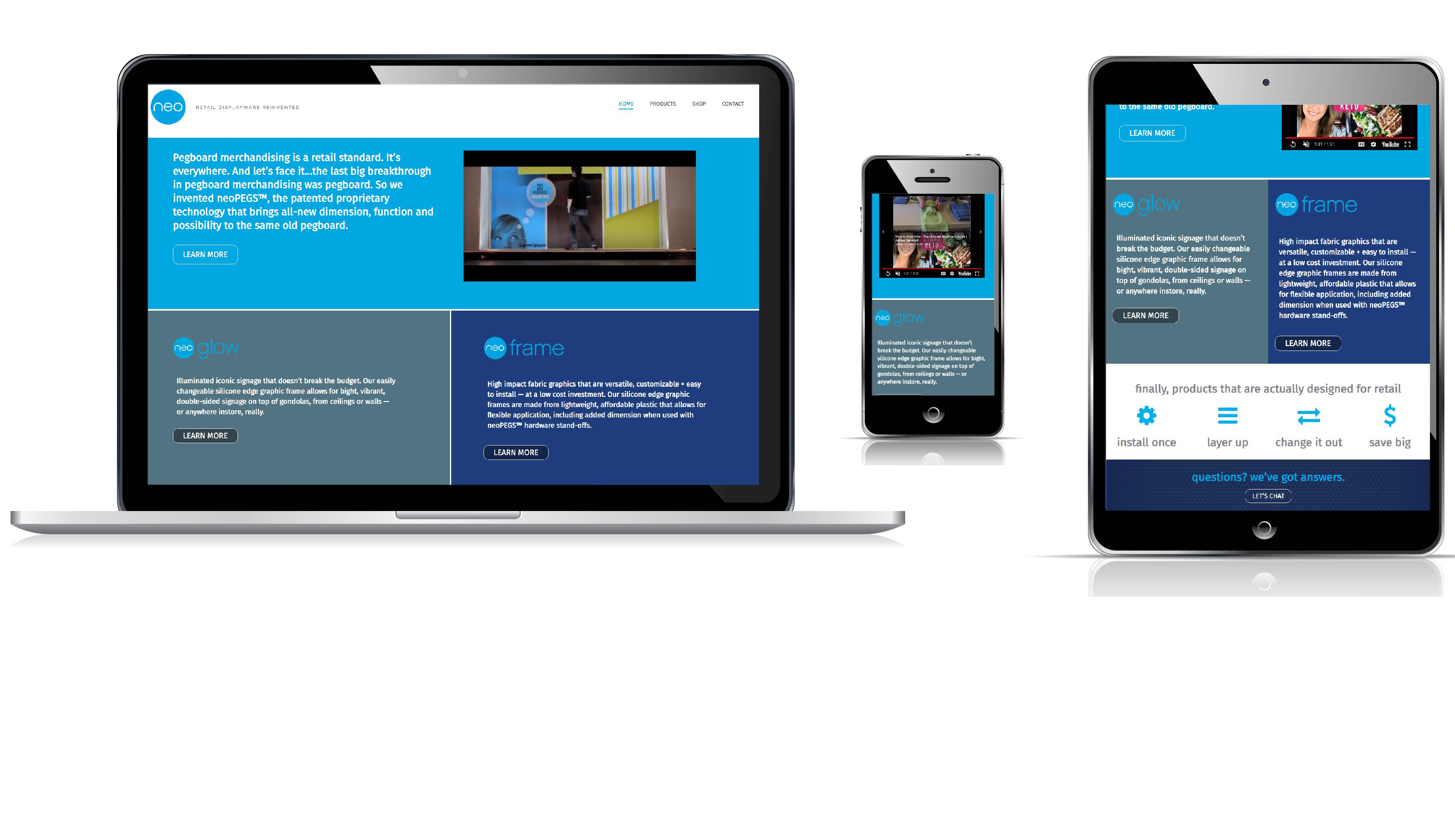 Neo Website Redesign