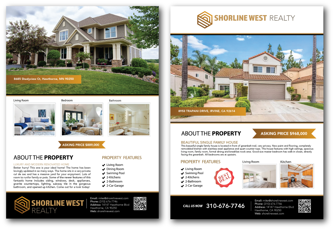 Real Estate Listing Flyer Design