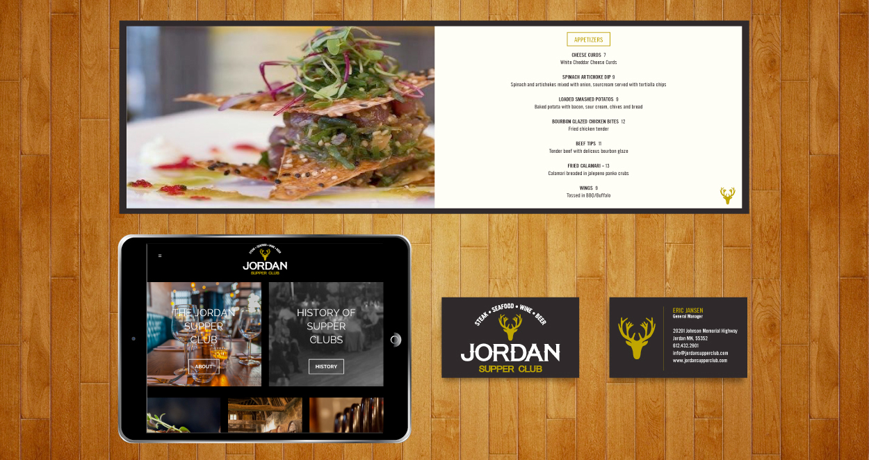 Jordan Supper Club Custom Web Design